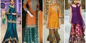 Beautifull Fancy Designer Sharara Gharara Dresses -Embroeded Beded works Dresses